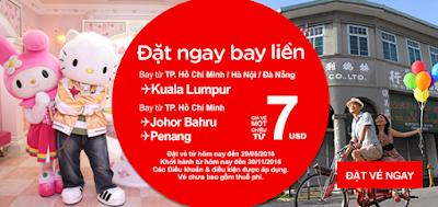 Bay ngay cùng vé rẻ Air Asia giá từ 7 usd