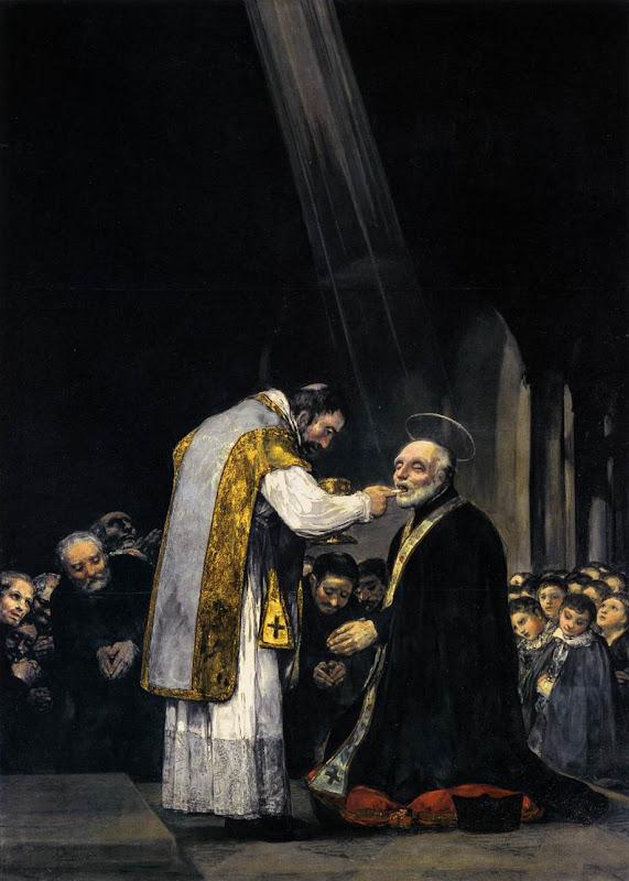Francisco de Goya - La última comunión de san José de Calasanz (c.1819)