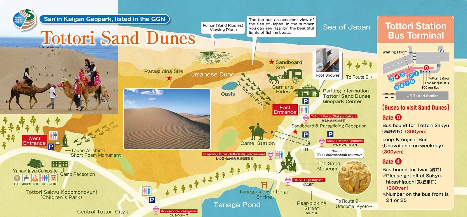 Tottori Sand Dunes - Tottori, Japan   Blue Moon (Travel Blog; Self travel / Backpack / One Day Trip)