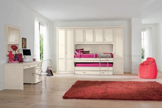 Pretty Shared Bedroom Designs For Girls: 10 Pretty Bedrooms Ideas For Girls