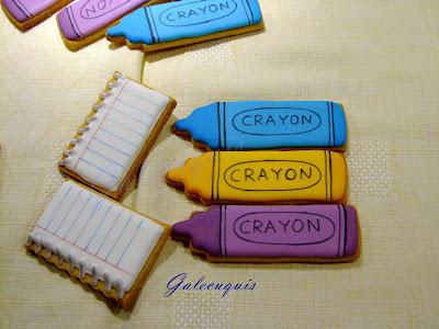 galletas de glasa ceras de colores