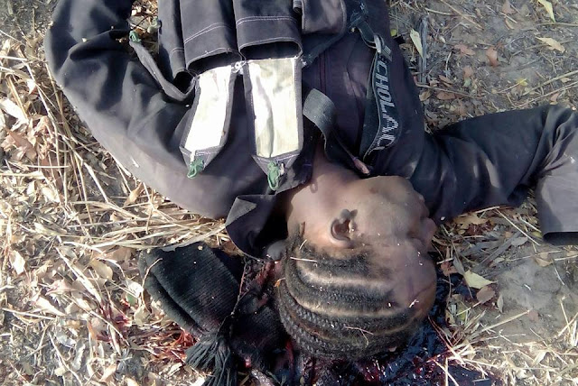 Disguised suicide bomber shot dead in Borno