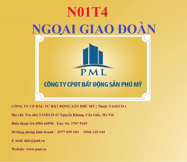Chủ đầu tư N01T4 Ngoại Giao Đoàn