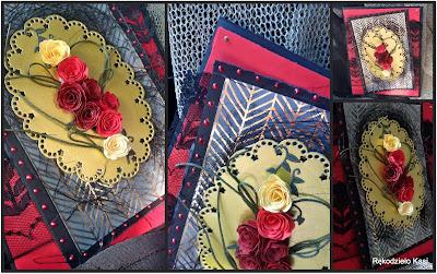 Kartka w kolorach tanga