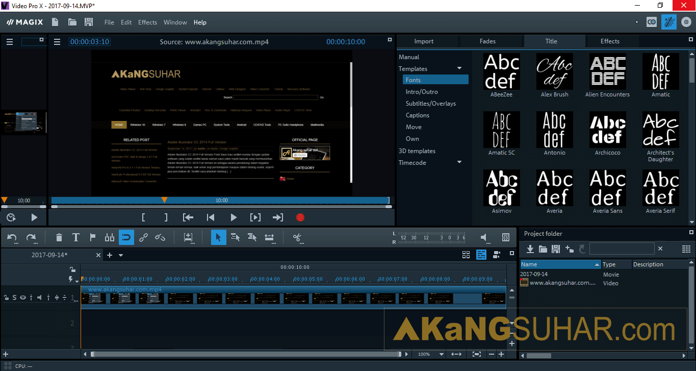 Gratis Download MAGIX Video Pro Full Crack Terbaru