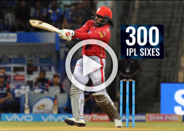 IPL 2019 300 six gayle