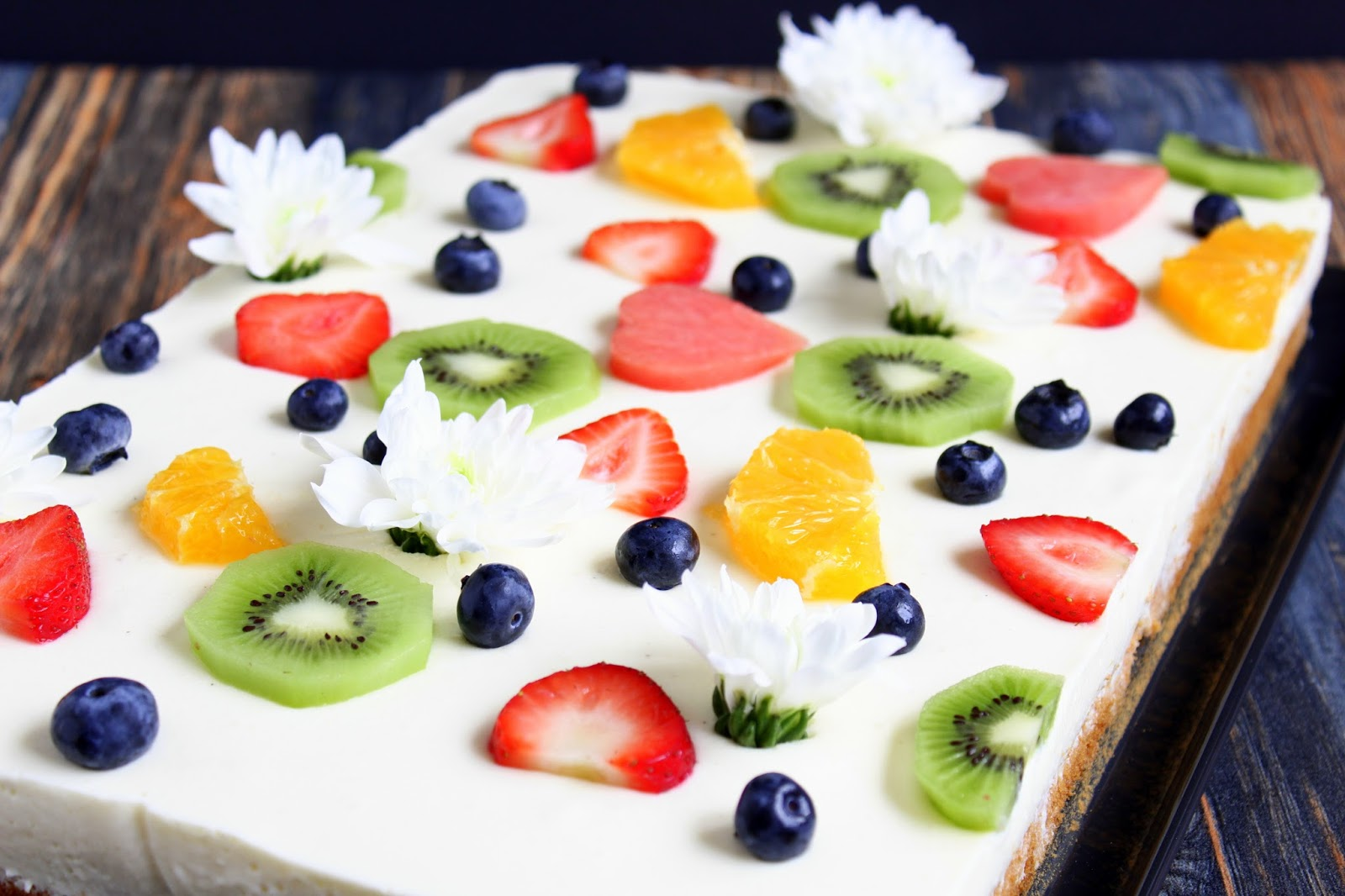 Fruchtetraum Zitronenblechkuchen Mit Fruchten