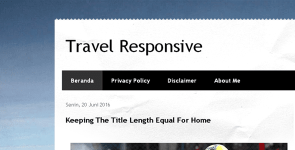 Template Default Blogger Responsive