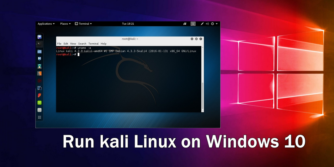 Now 'Kali Linux' can be run in your Windows 10 Machine - Yes