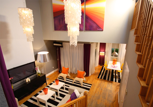 enchanting orange white living room | Nicole Rene Design {weddings, events, home decor, fashion ...