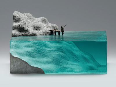 Esculturas de vidrio y concreto