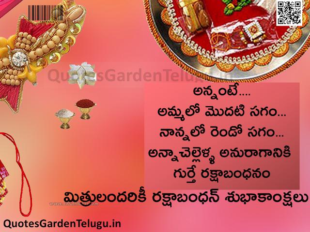 Happy Raksha Bandhan Images, Wishes, Sms in Telugu
