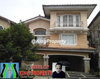 Rp.3 Milyar Dijual Rumah Di Cluster Mediterania Sentul City Bogor (Code:262)