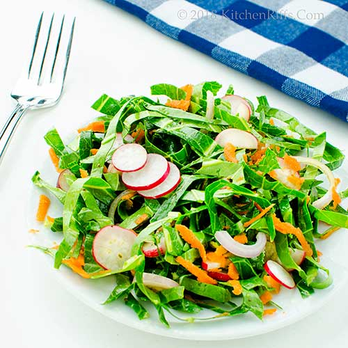 Collard Greens and Radish Slaw