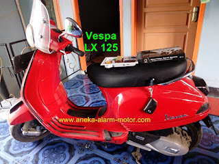 Cara pasang alarm motor remote pada Vespa LX 125