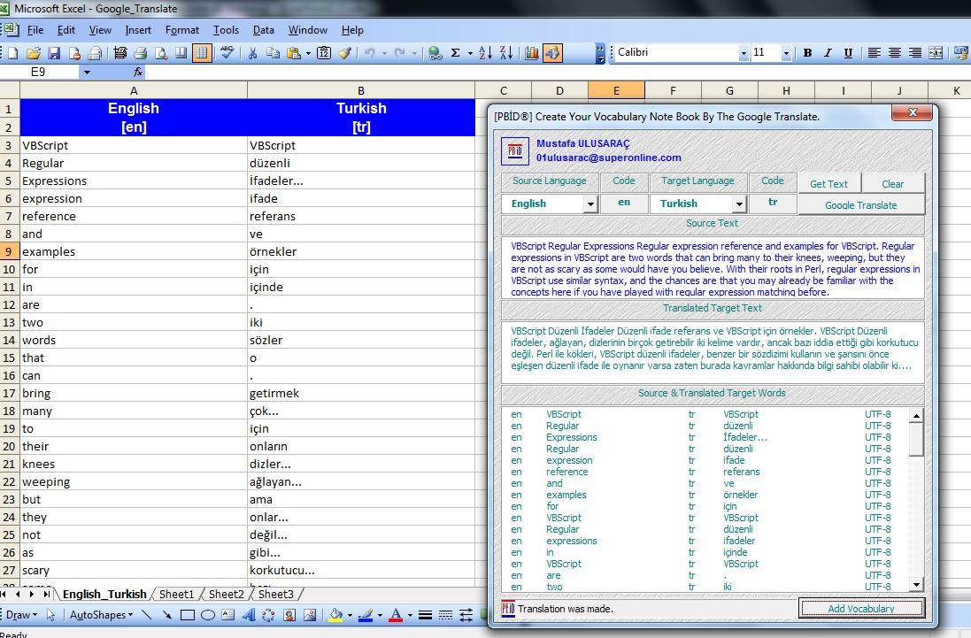 English To Italian Translator Google: Microsoft Office Excel ® Kod Kılavuzu: Create Your