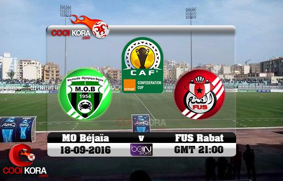 مشاهدة مباراة مولودية بجاية والفتح الرباطي اليوم 18-9-2016 كأس الإتحاد الأفريقي