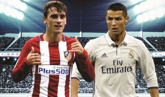 Atletico Madrid host local-rivals Real Madrid in a repeat of last season's UEFA Champions League final.