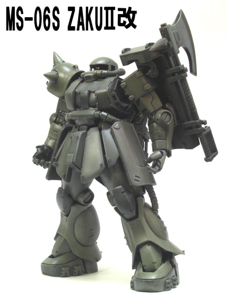 Mg 1 100 Zaku Ii Kai Custom Build Gundam Kits Collection