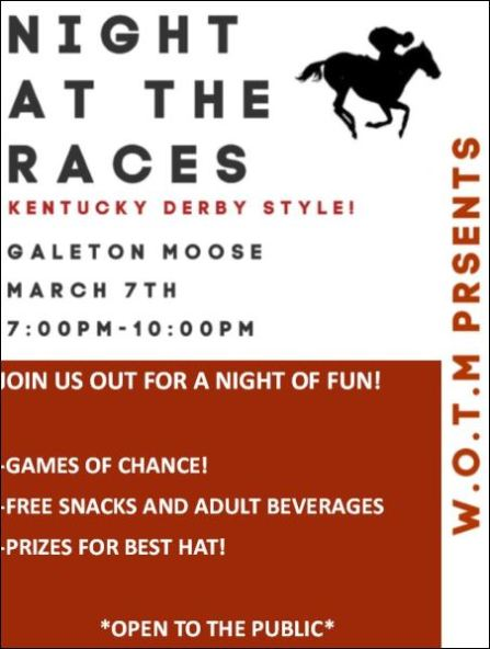 "3-7 Galeton Moose ""Night at the Races"""