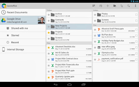 Quickoffice untuk Android Google Drive