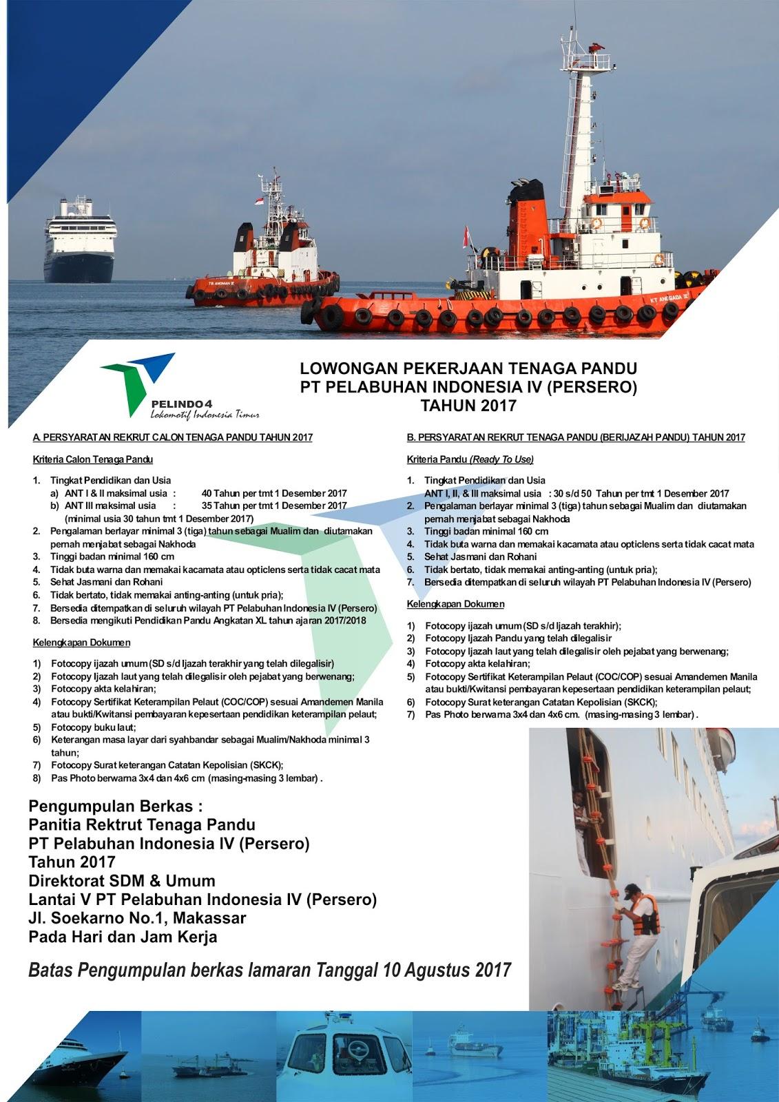 Lowongan Kerja PT Pelabuhan Indonesia IV (Persero)