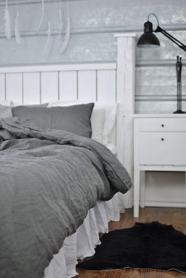 hannashantverk.blogspot.se sovrum bäddset lin linen bedding sängkappa
