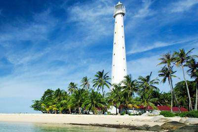 tempat foto bagus di belitung, pulau lengkuas