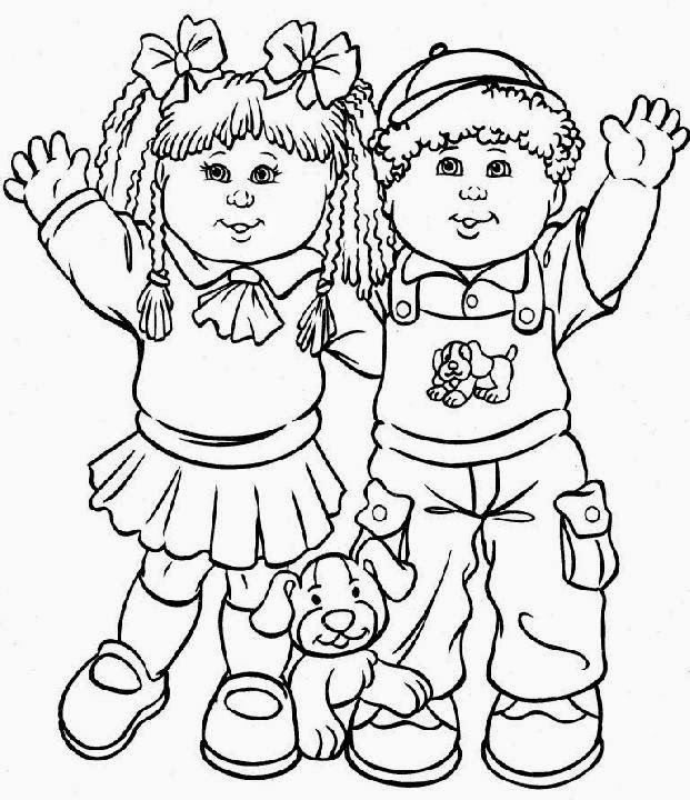 Cabbage Patch Kids Holding Flowers | Kids coloring books, Coloring ... | 720x621
