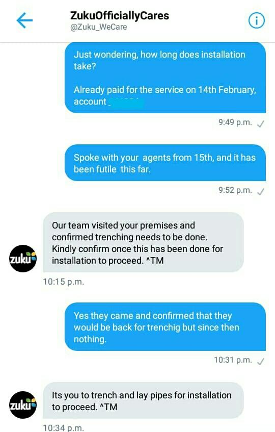 Zuku Has The Worst Customer Care Service Ever! You Won't Believe What They Told A Client