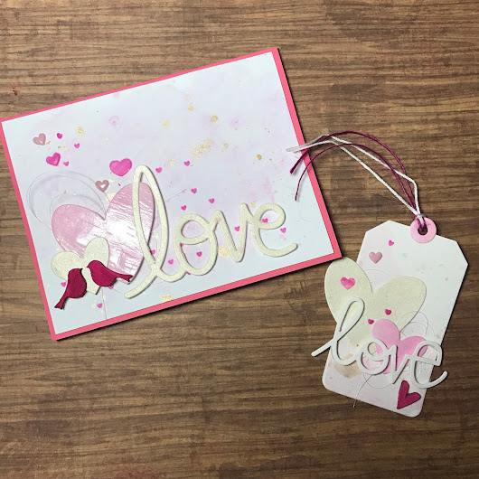 Valentine's Day Card and Gift Tag with Shimmerz Paints