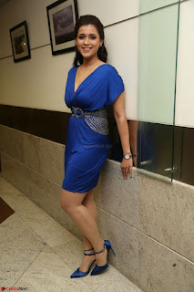 Mannara Chopra in Short Blue Dress at Rogue Movie Teaser Launch 1st March 2017 065.JPG