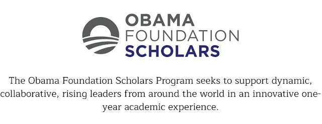 Obama Foundation Scholars Program at University of Chicago 2018/2019