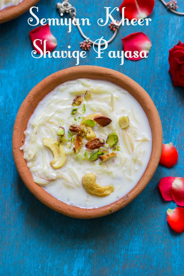 How to make shavige payasa semiyan kheer vermicelli pudding recipe at www.oneteaspoonoflife.com