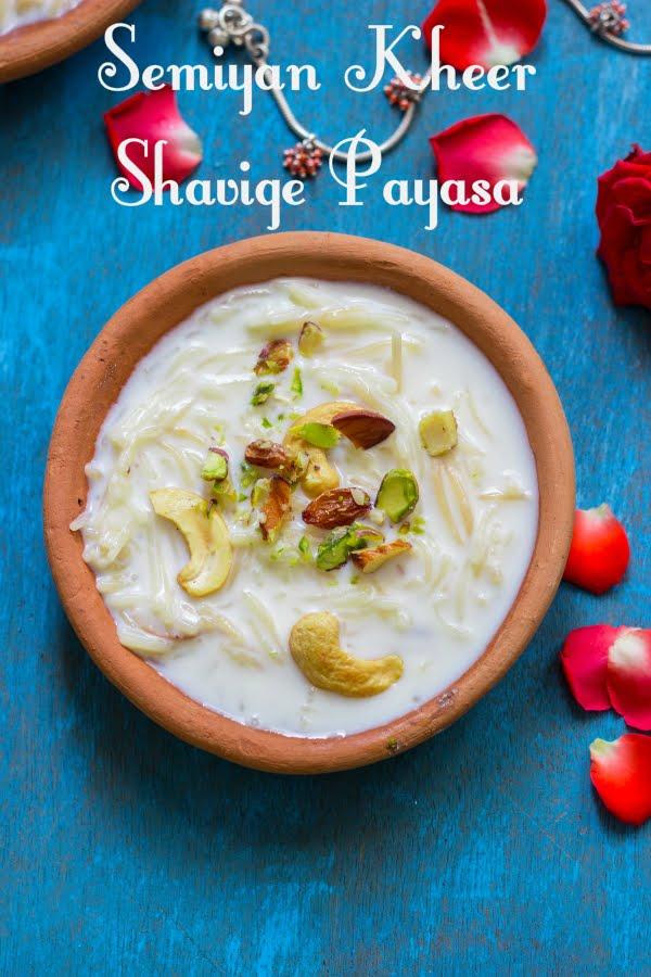 How to make shavige payasa semiyan kheer vermicelli pudding recipe at www.oneteaspoonoflife.com