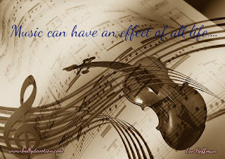 If there is a heart, eyes, ears, and a mind music can effect the life...
