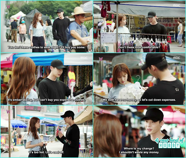 kang chul bought Yeon joo a dress  - W - Episode 11 Review