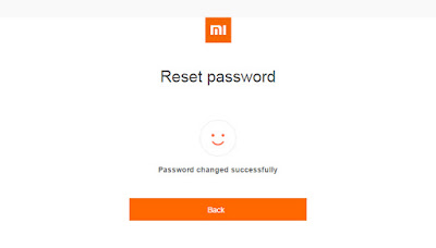 Reset Password Mi Account