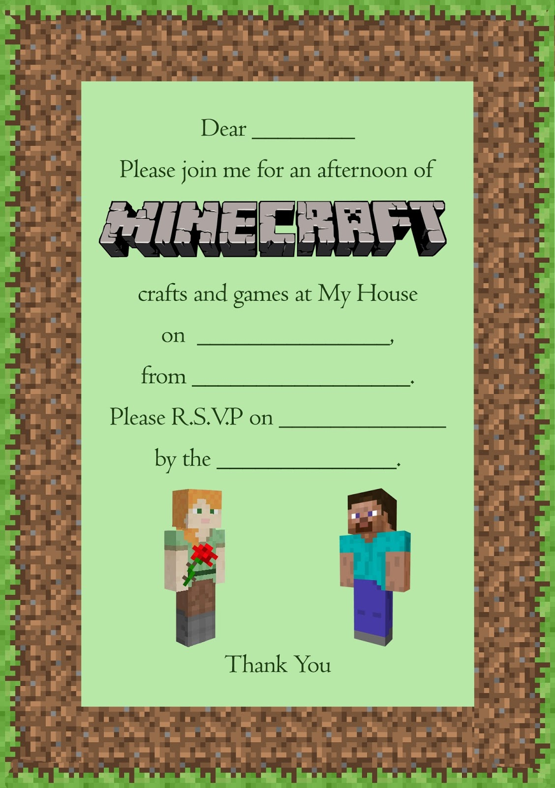 A Peaceful Girl\'s Minecraft Party | Craft me Happy!: A Peaceful ...