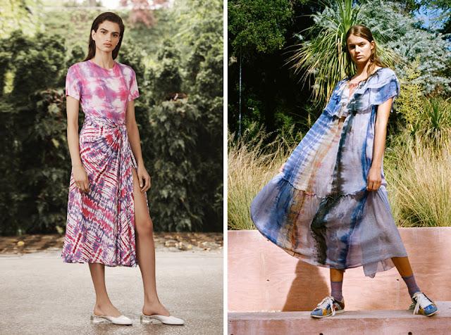 Юбка и платье с принтом tie-dye