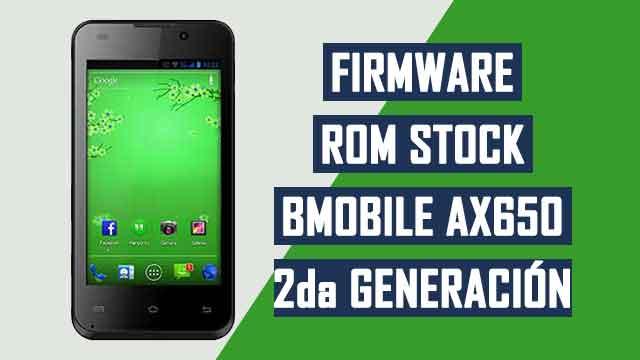 Firmware - rom stock Bmobile AX650 [segunda generación]