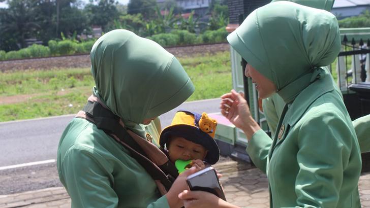 Pendidikan Anak, Salah Satu Perhatian Ketua Persit Cabang XVIII Dalam Kunjungan Kerjanya