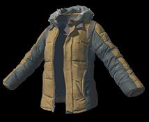 Куртка с подкладом цвета Хаки (Khaki Padded Jacket)