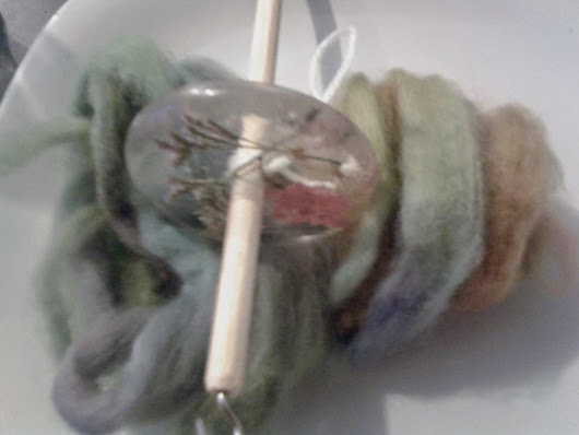 Spinning Hand Dyed/Hand Blended Merino Roving