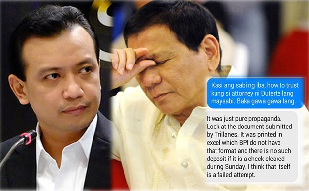 Trillanes vs. Duterte BPI bank issue