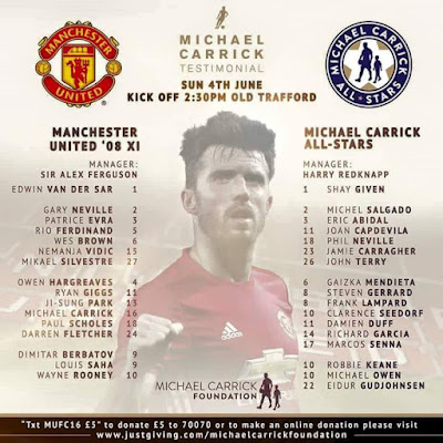 Manchester United 08 vs Michael Carrick All Stars Live Streaming