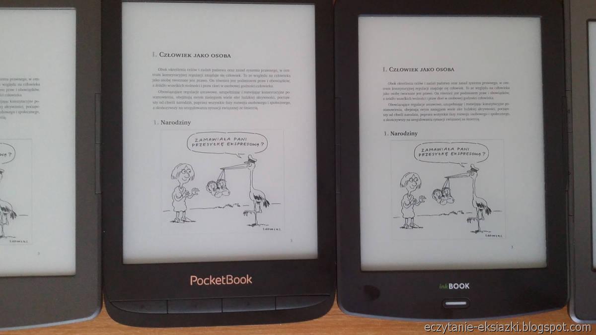 PocketBook Touch Lux 4 i InkBOOK LUMOS  – porównanie ekranów
