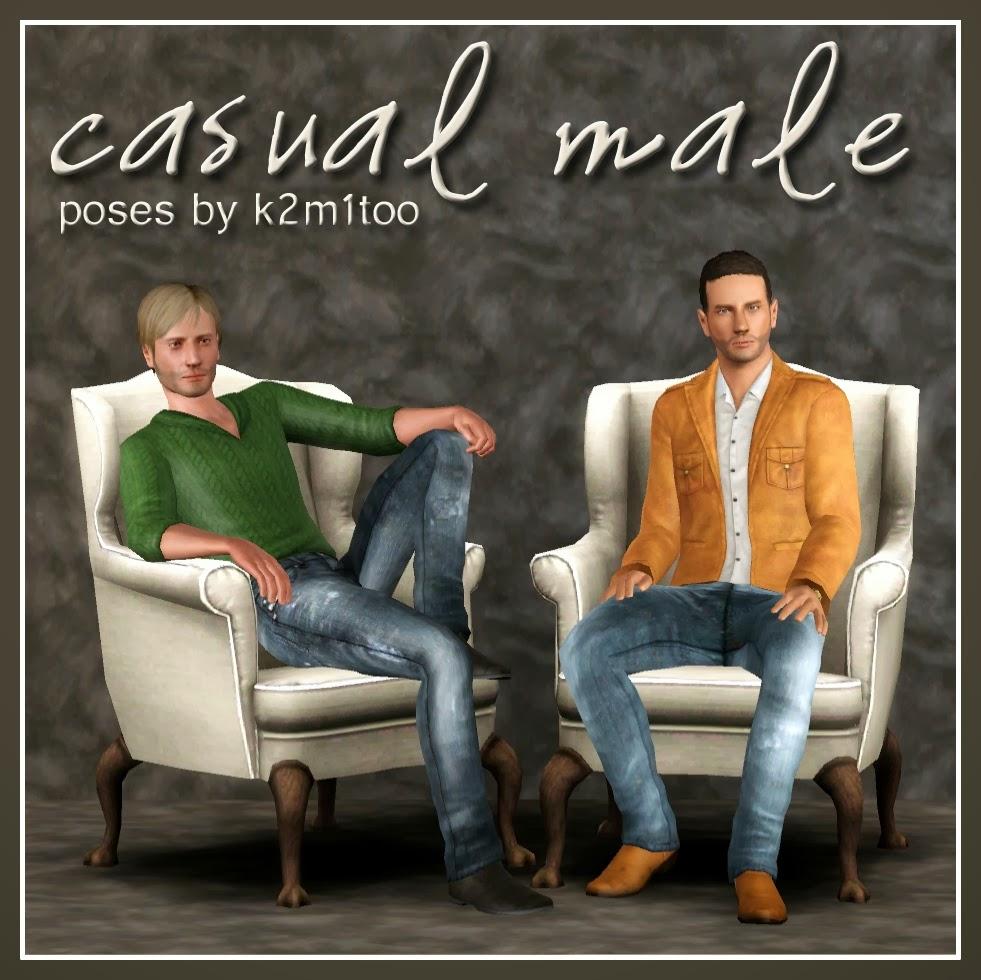 Studio K2: Poses: Casual Male