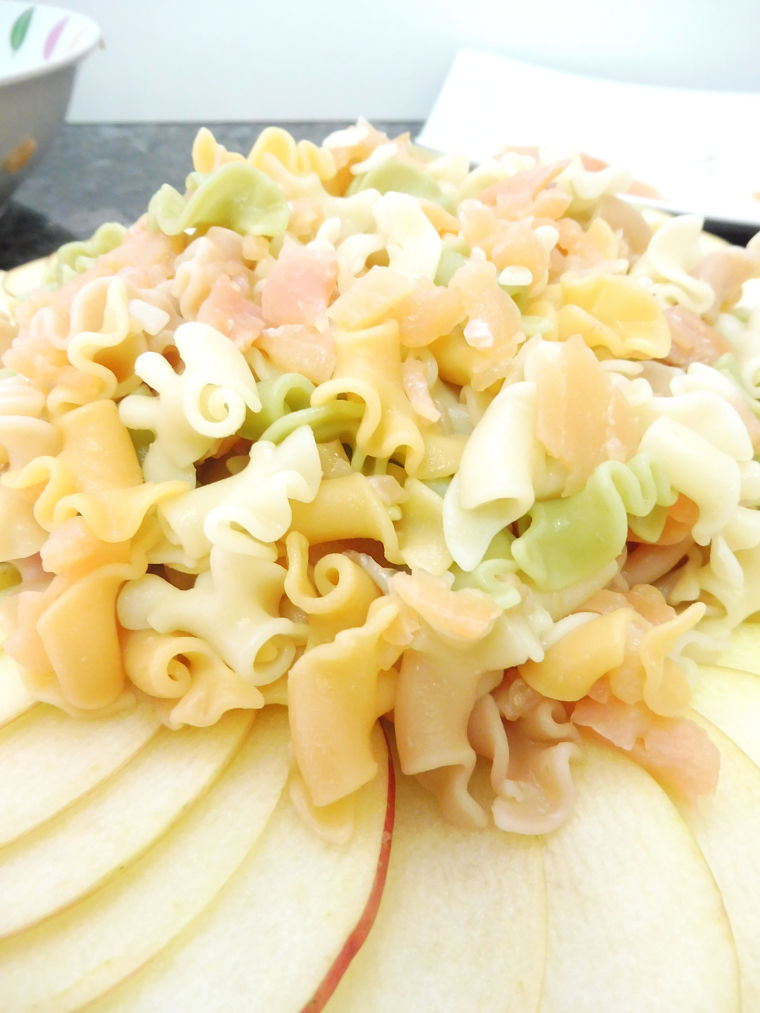 PUNTXET Ensalada de pasta con ahumados y salsa de yogur #pasta #ensalda #salad #receta #recipe
