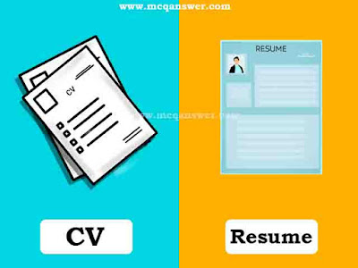 cv and resume differences